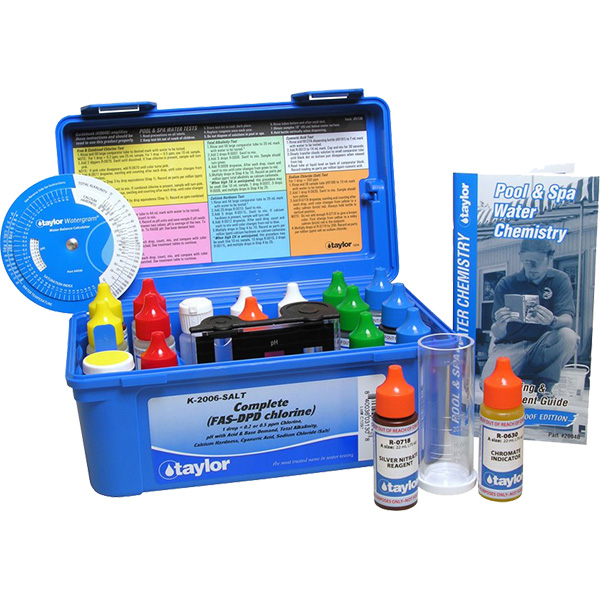 Taylor Complete Fas Dpd Chlorine Plus Salt Pool Test Kit