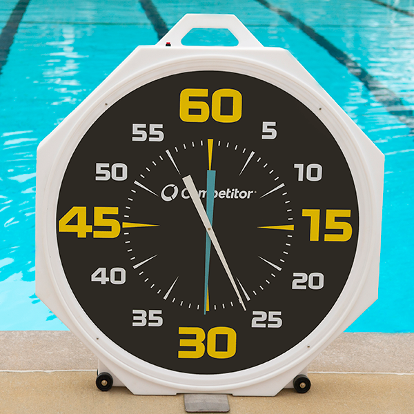 Competitor Swim 37 inch Battery Pace Black Face Dail Clock