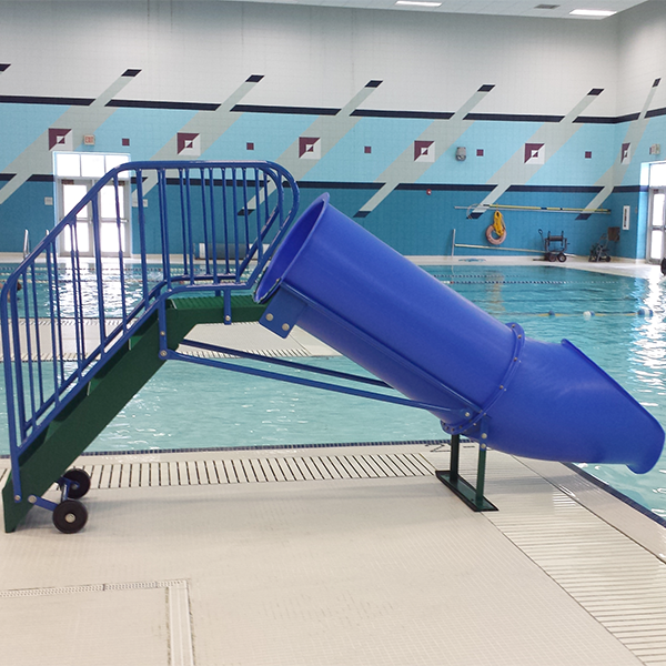 Minnow 24 inch tube portable swimming pool waterslide for Swimming pools with waterslides