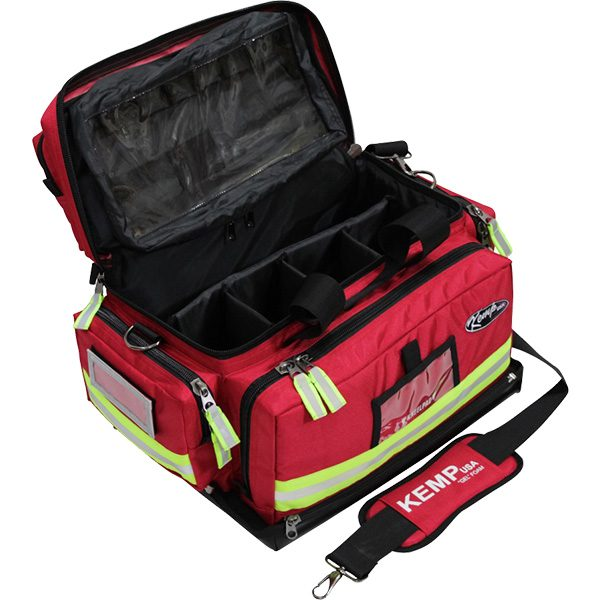 Premium Large Professional EMS Trauma Bag for First Responders - Open Storage View