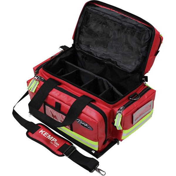 Premium Large Tarpaulin Fluid-Resistant Professional EMS Trauma Bag - Open Storage View