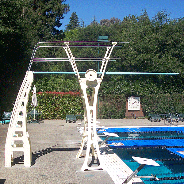 Duraflex 3 Meter Dive Stand - Double Guard Rails on Both Sides