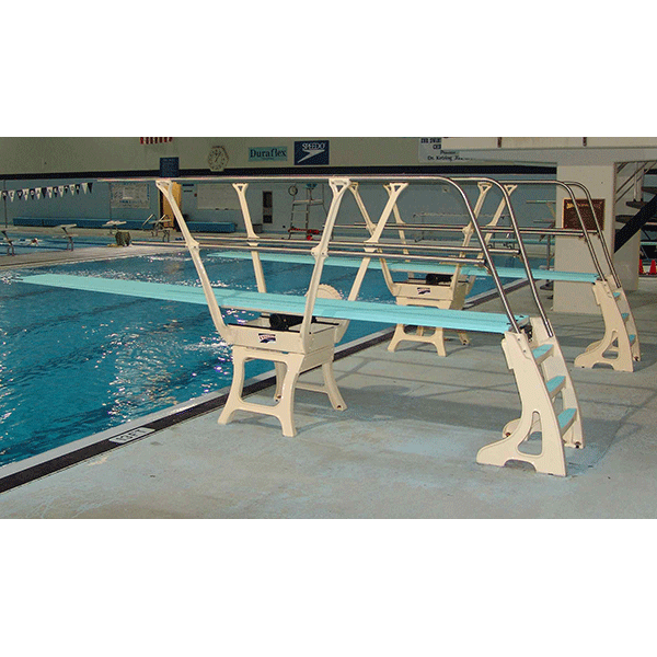 Duraflex 1 Meter Dive Stand - Double Side Rails on Both Sides