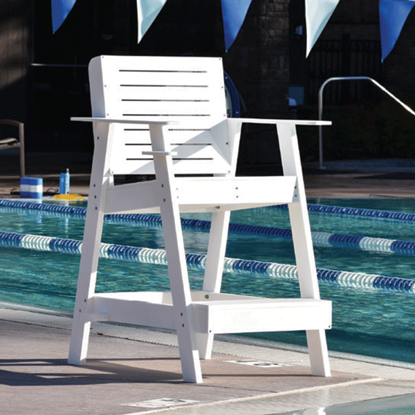 S R Smith 30 Inch Portable Hdpe Plastic Sentry Lifeguard Chair