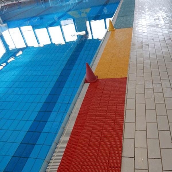 Floorline Water Polo Marking Slip-Resistant Open-Grid Pool Matting