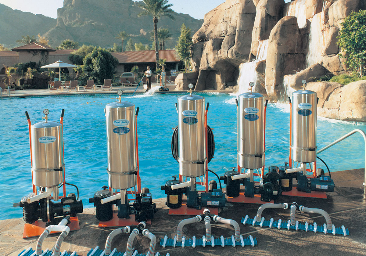 Maxi Sweep Swimming Pool Fountain Portable Vacuum