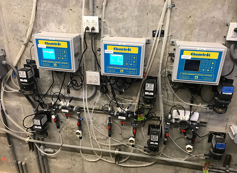 Chemtrol controllers incorporate all pool mechanical monitoring, control, and communication functions into a single integrated command center.