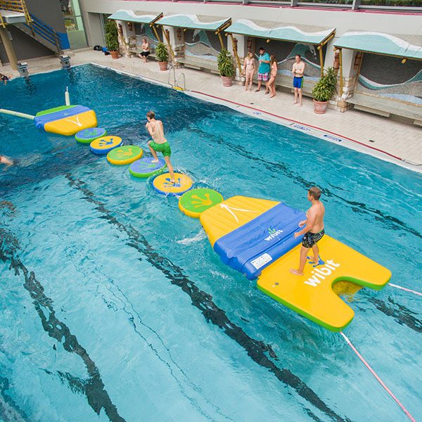 Wibit Sports WiggleTrack Standard Combination Inflatable Pool Obstacle Course