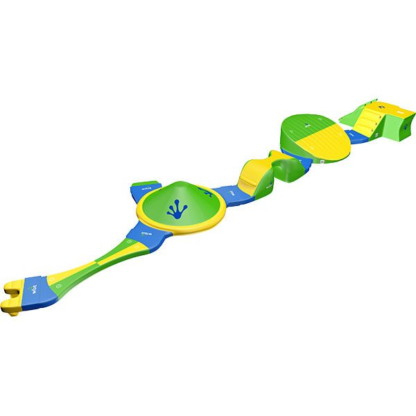 3-D rendering of Wibit KidsTrack standard combination inflatable product.