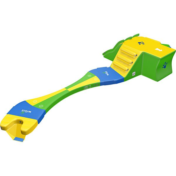 3-D rendering of Wibit KidsRun standard combination inflatable product.