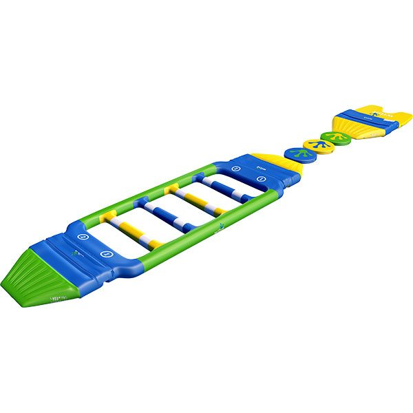 3-D rendering of Wibit FastTrack 3 standard combination inflatable product.