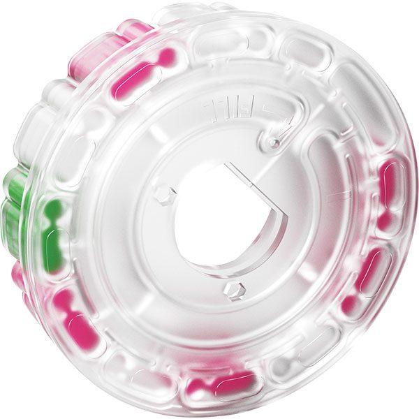 LaMotte's WaterLink Spin Disk reagent filled testing disk.