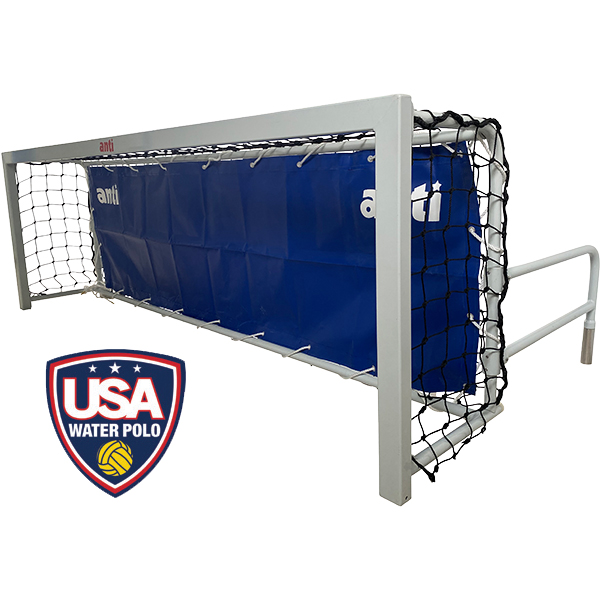 Anti-Wave's universal wall water polo goal (short) is excellent for training and social matches.