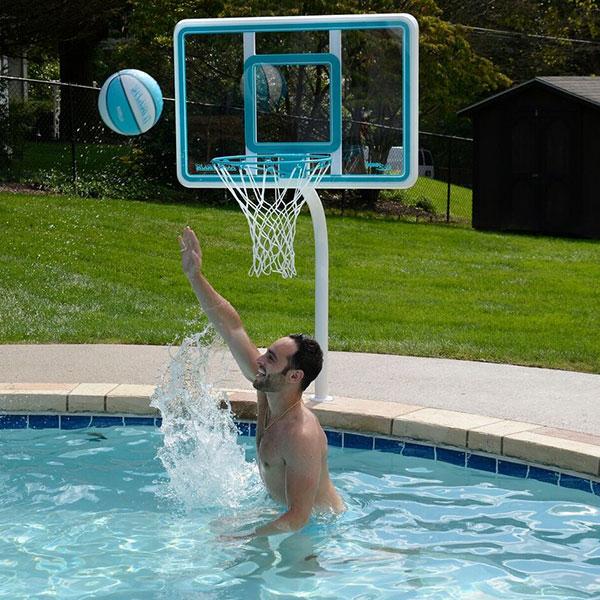 Deck shoot regulation size swimming pool basketball goal - Basketball goal for swimming pool ...