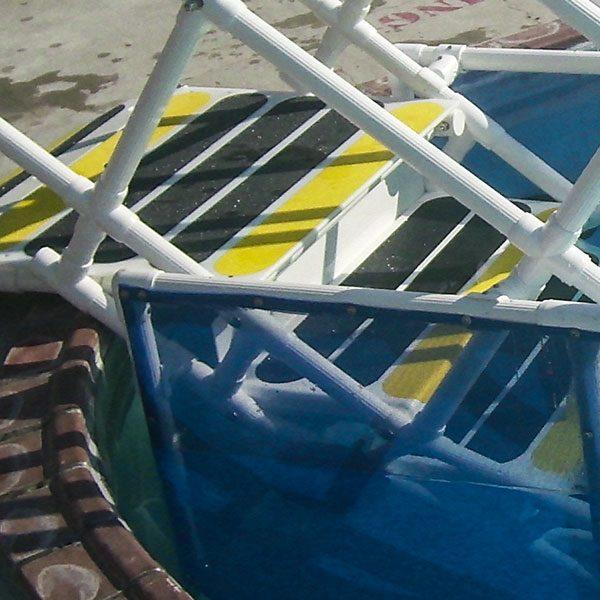 Replacement AquaTrek2 swimming pool access ladder non-skid safety strip.