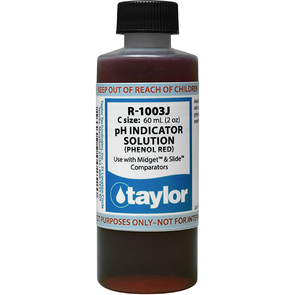Taylor Swimming Pool Replacement Test Reagent R-1003j-c Phenol Red - 2.0 oz