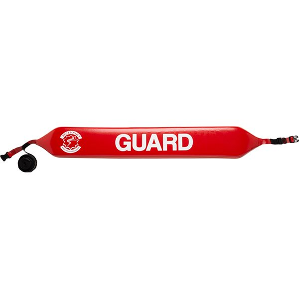 """Recreonics' 40"""" water rescue tube is made of high density, closed-cell foam and encapsulated 8-10 mills high-viscosity red vinyl skin."""