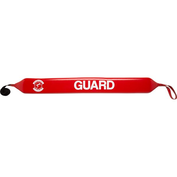 """Recreonics' 50"""" water rescue tube is made of high density, closed-cell foam and encapsulated 8-10 mills high-viscosity red vinyl skin."""