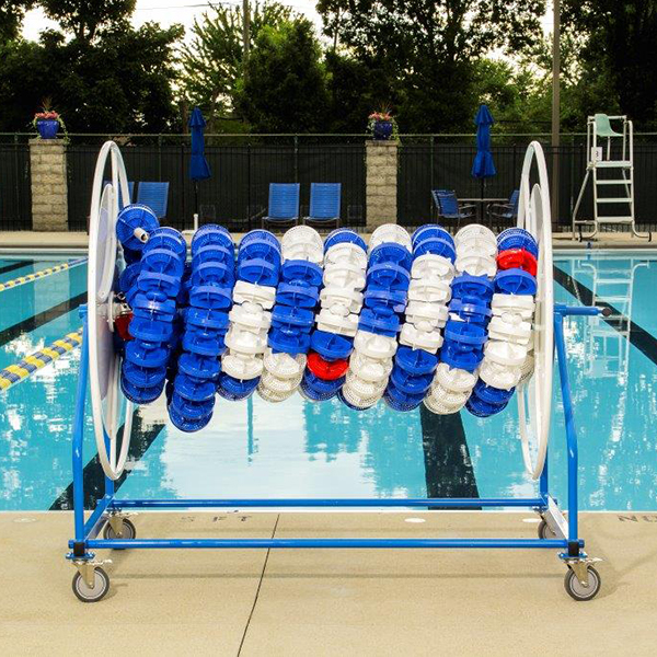 Competitor Swim's Classic Plus Stor-Lane Reel is ideal for easy, mobile storage and installation of racing lane lines.