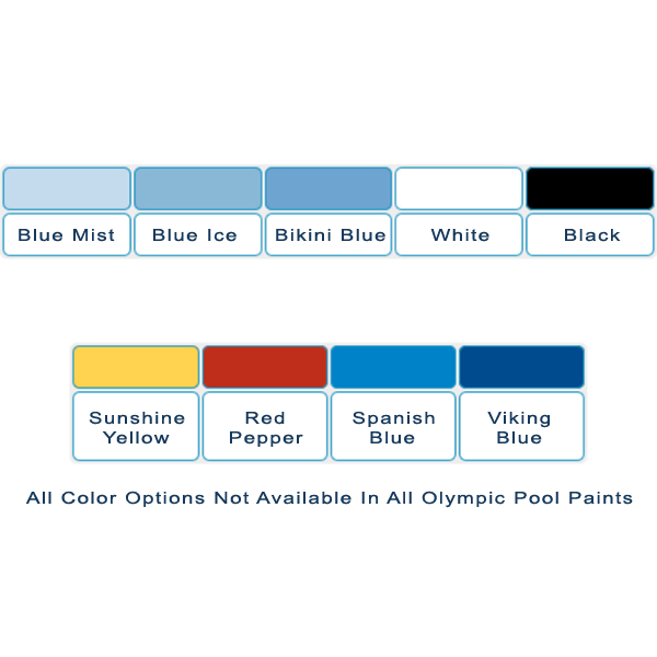 Olympic swimming pool paint color options.
